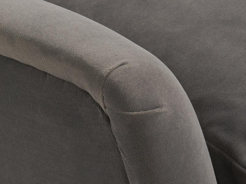 Pleated arm detail of Berlin vintage inspired retro sofa handmade in Britain
