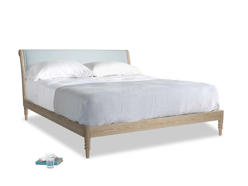 Superking Darcy Bed in Scandi blue clever cotton