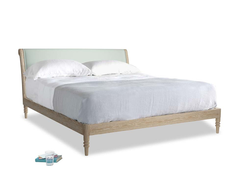 Superking Darcy Bed in Sea surf clever cotton