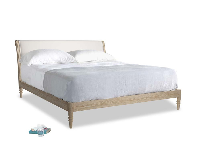Superking Darcy Bed in Chalk clever cotton
