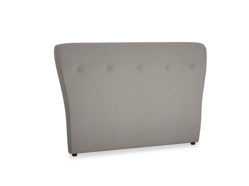 Double Smoke Headboard in Monsoon grey clever cotton