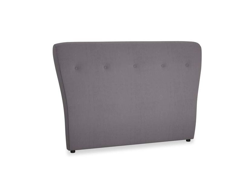 Double Smoke Headboard in Graphite grey clever cotton