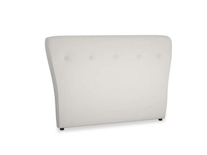 Double Smoke Headboard in Moondust grey clever cotton