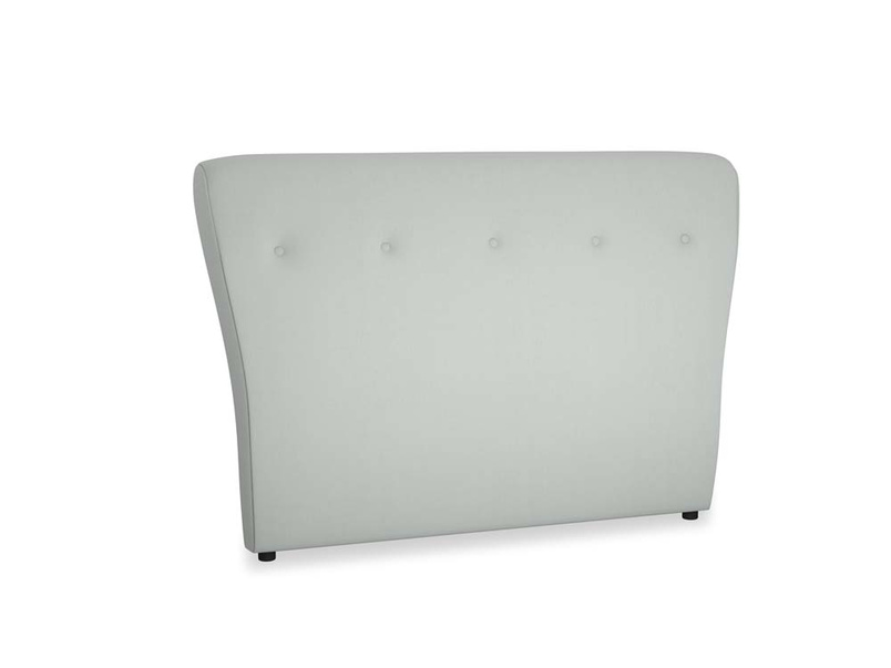 Double Smoke Headboard in Eggshell grey clever cotton