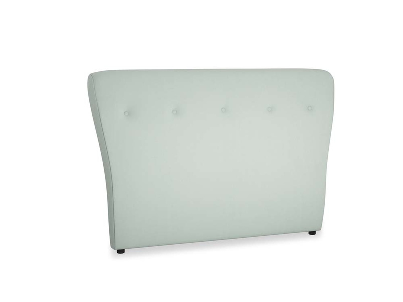 Double Smoke Headboard in Sea surf clever cotton