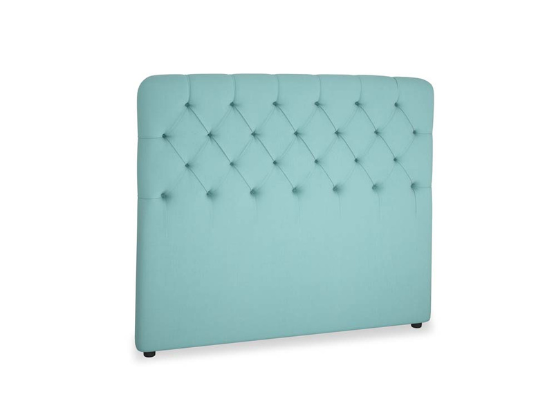 Double Billow Headboard in Kingfisher clever cotton