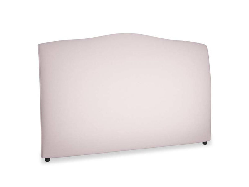 Superking Frenchie Headboard in Dusky blossom washed cotton linen