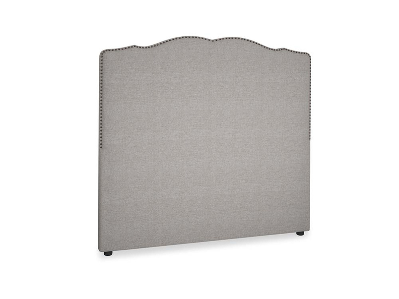 Double Marie Headboard in Marl grey clever woolly fabric