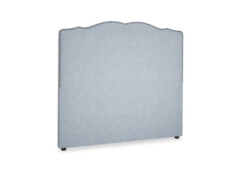 Double Marie Headboard in Frost clever woolly fabric