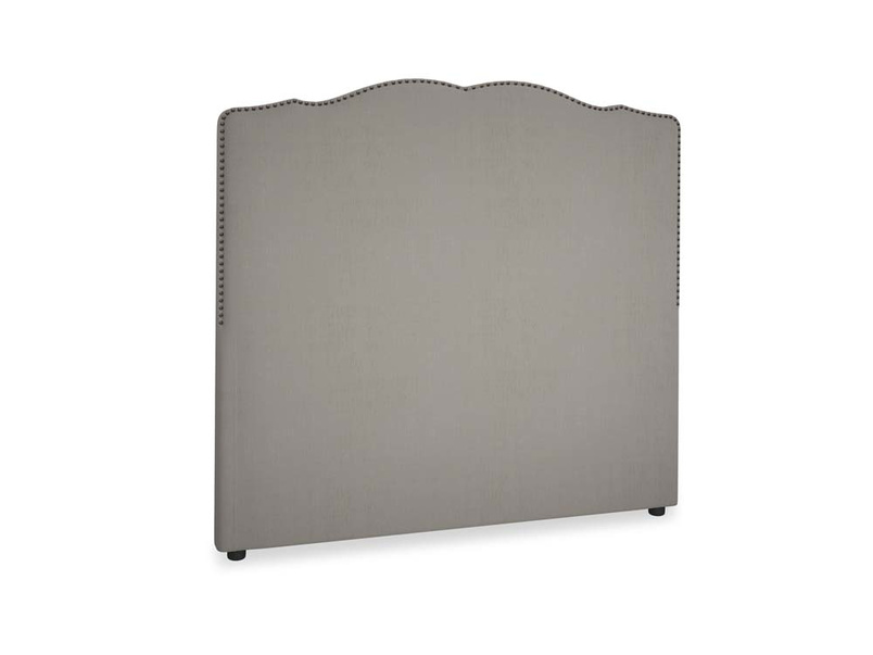 Double Marie Headboard in Monsoon grey clever cotton