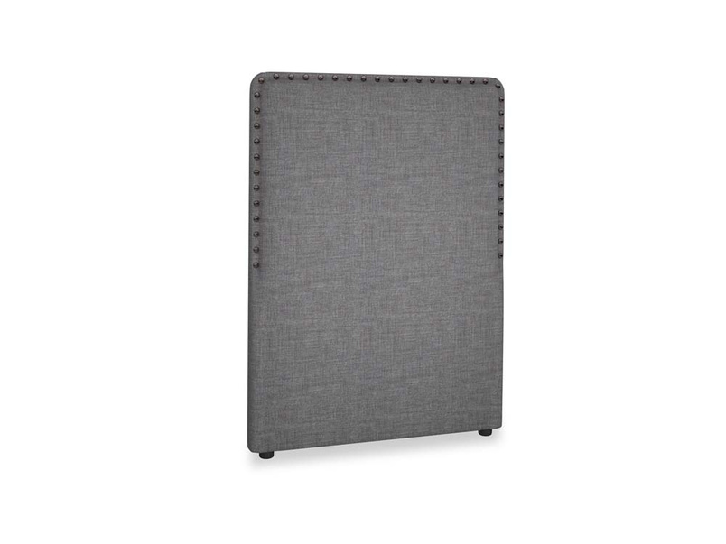 Single Smith Headboard in Strong grey clever woolly fabric