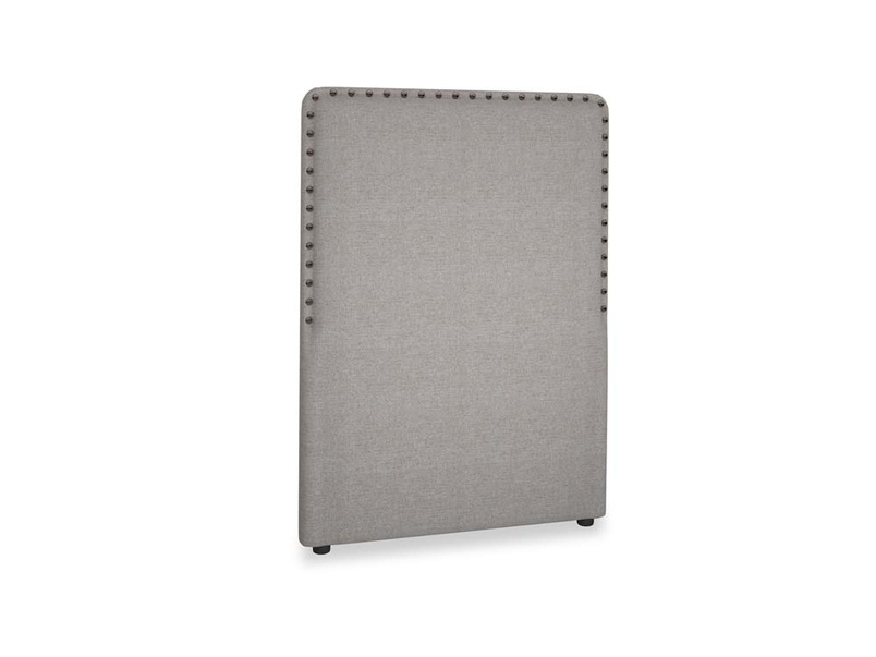 Single Smith Headboard in Marl grey clever woolly fabric