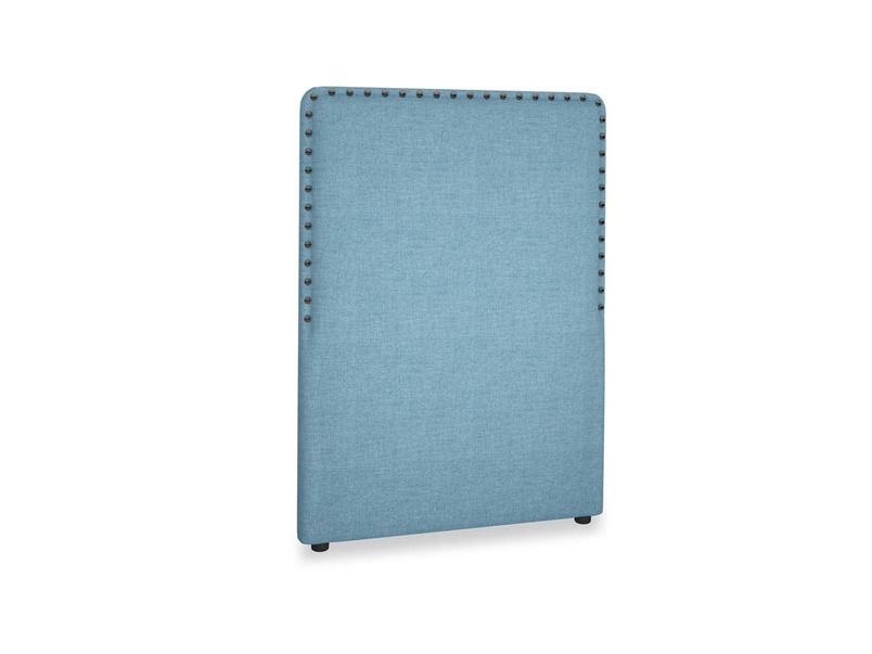 Single Smith Headboard in Moroccan blue clever woolly fabric