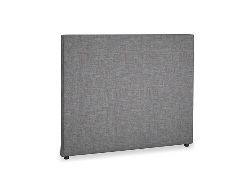 Double Piper Headboard in Strong grey clever woolly fabric