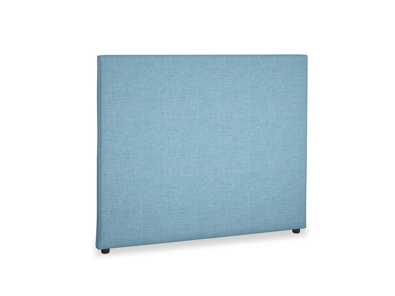Double Piper Headboard in Moroccan blue clever woolly fabric