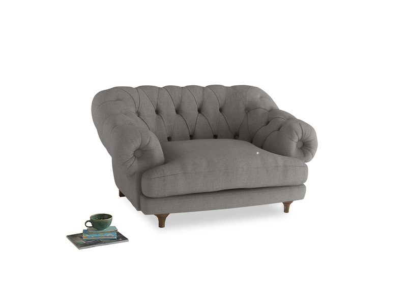 Bagsie Love Seat in Marl grey clever woolly fabric