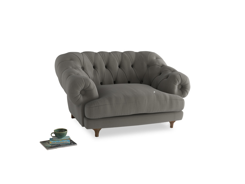 Bagsie Love Seat in Monsoon grey clever cotton