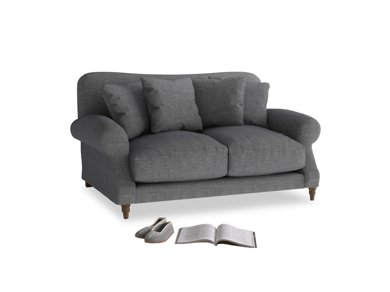 Small Crumpet Sofa in Strong grey clever woolly fabric