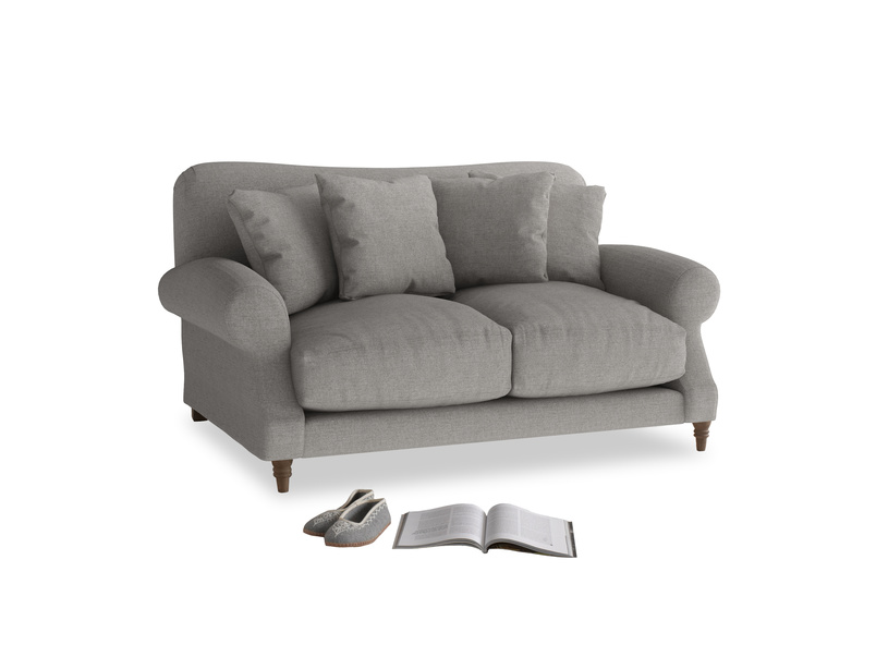 Small Crumpet Sofa in Marl grey clever woolly fabric