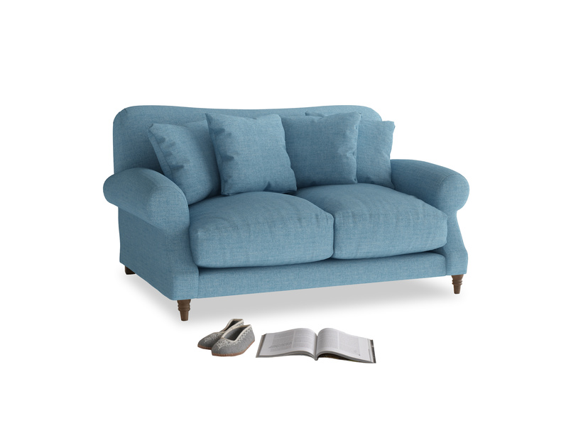 Small Crumpet Sofa in Moroccan blue clever woolly fabric