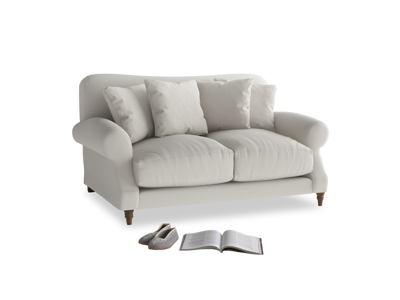 Small Crumpet Sofa in Moondust grey clever cotton
