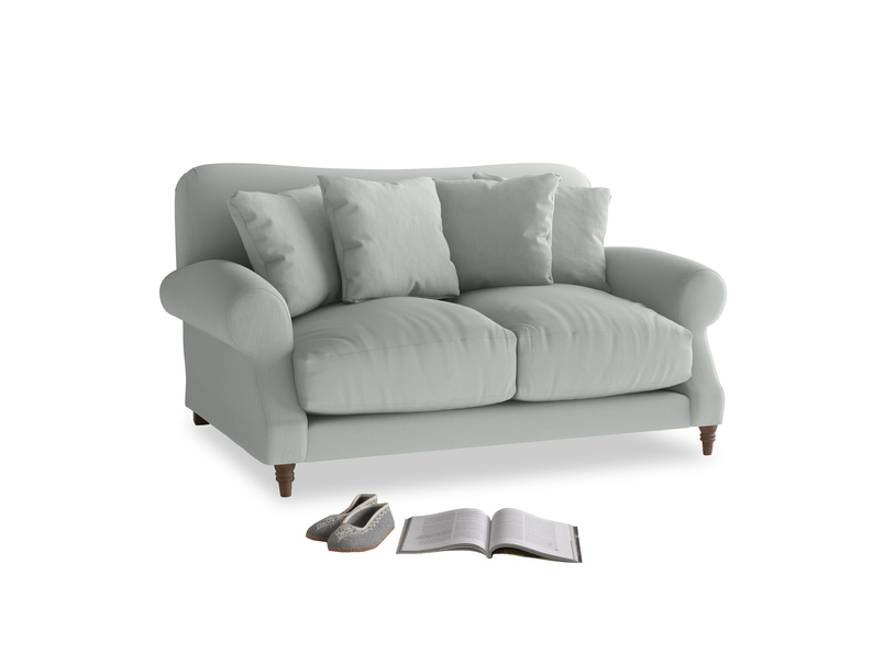 Small Crumpet Sofa in Eggshell grey clever cotton