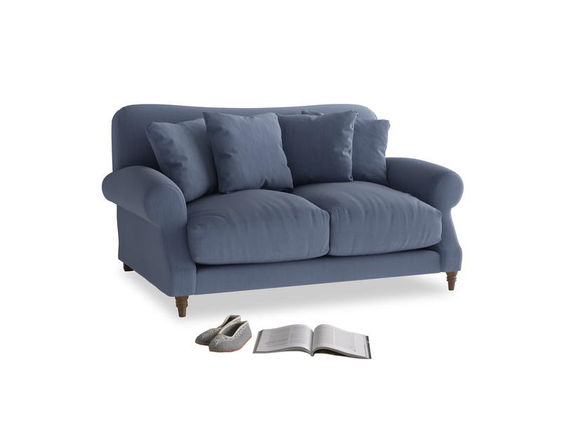 Small Crumpet Sofa in Breton blue clever cotton