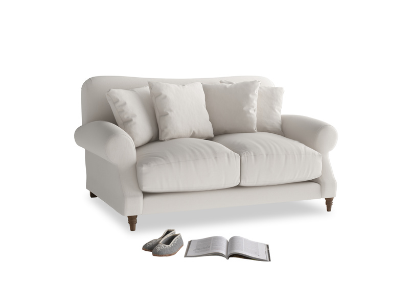 Small Crumpet Sofa in Chalk clever cotton