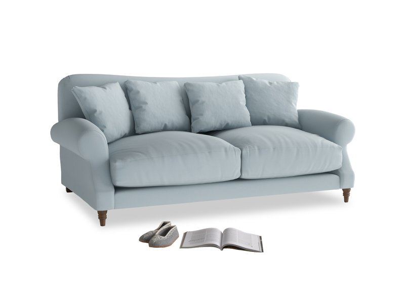 Medium Crumpet Sofa in Scandi blue clever cotton