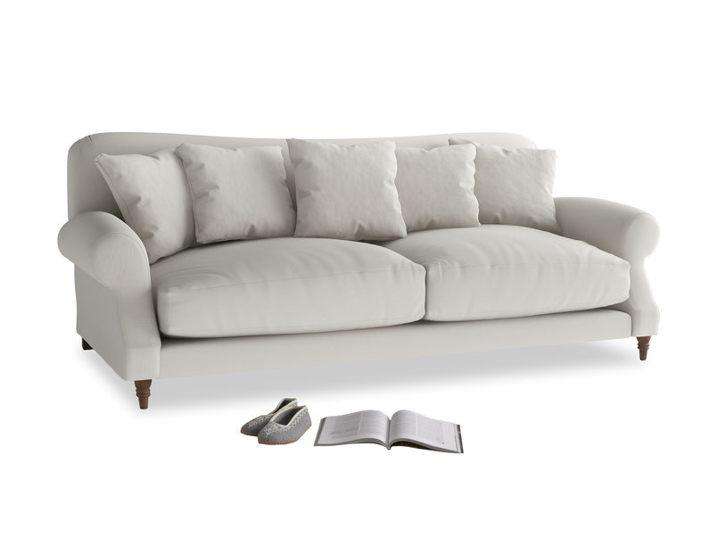 Large Crumpet Sofa in Moondust grey clever cotton