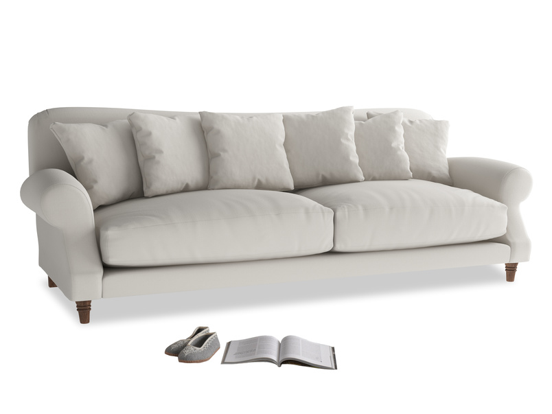 Extra large Crumpet Sofa in Moondust grey clever cotton