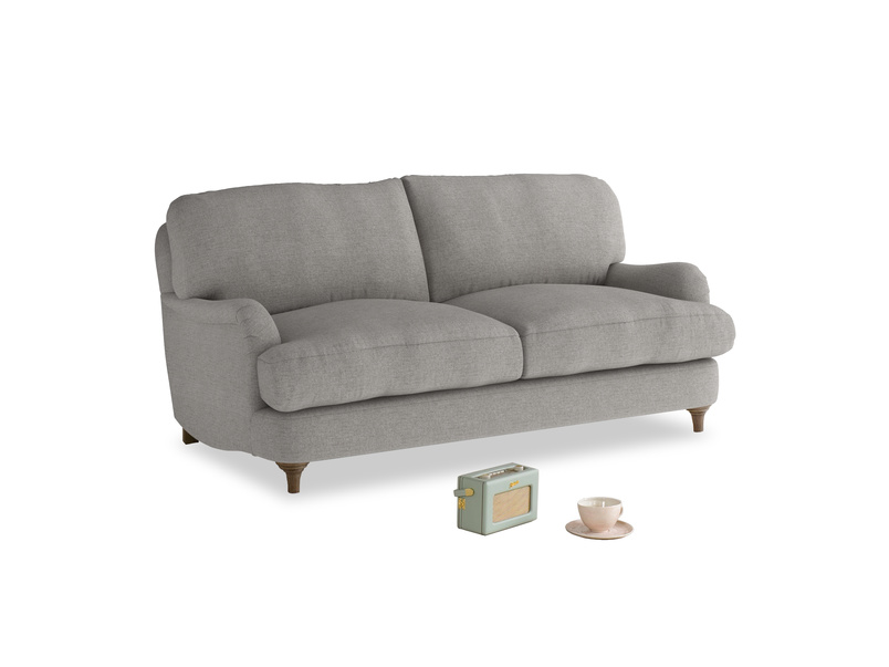 Small Jonesy Sofa in Marl grey clever woolly fabric