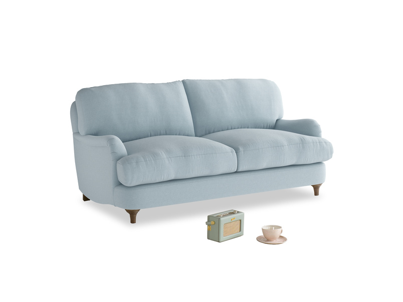 Small Jonesy Sofa in Soothing blue washed cotton linen