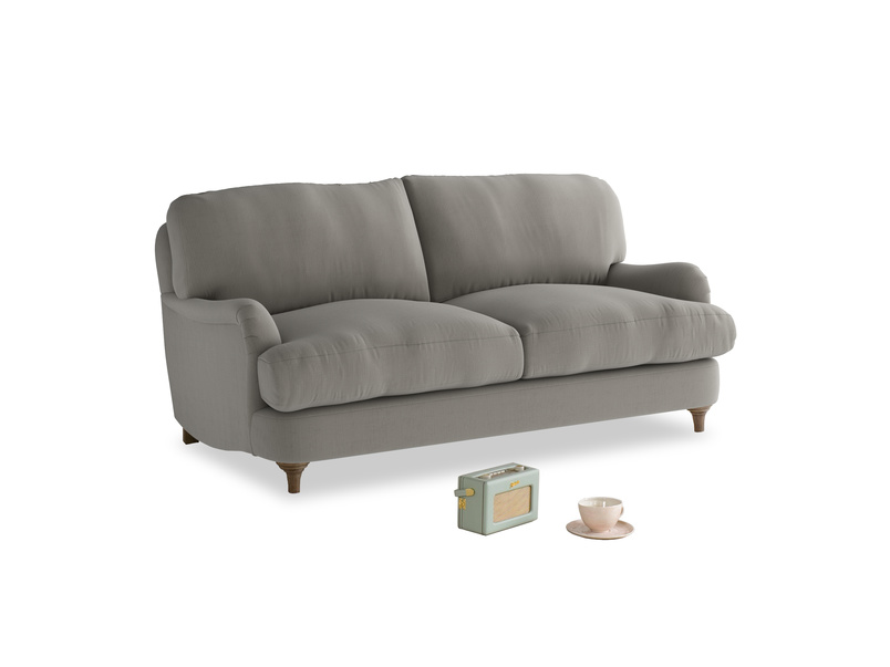 Small Jonesy Sofa in Monsoon grey clever cotton