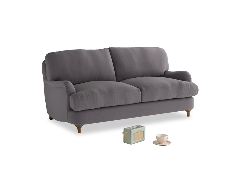 Small Jonesy Sofa in Graphite grey clever cotton