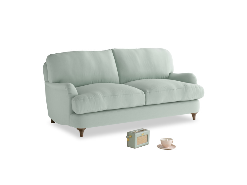 Small Jonesy Sofa in Sea surf clever cotton