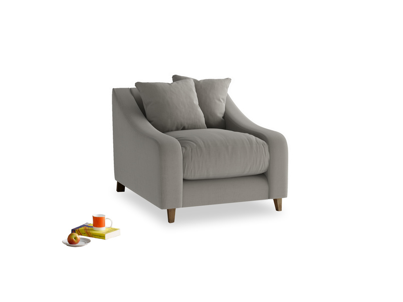 Oscar Armchair in Monsoon grey clever cotton