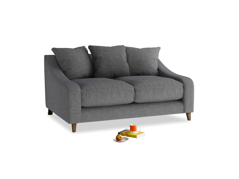 Small Oscar Sofa in Strong grey clever woolly fabric