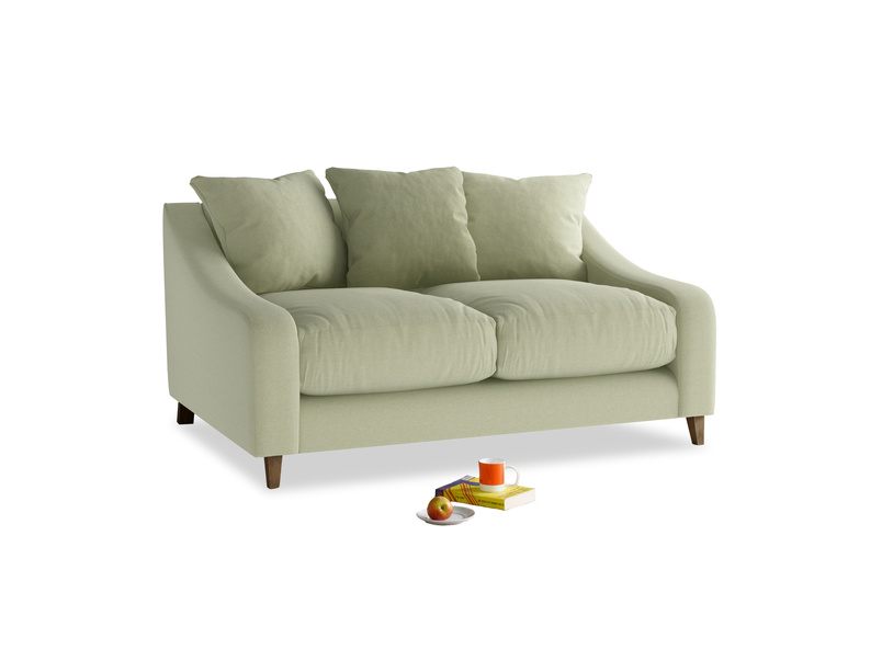 Small Oscar Sofa in Old sage washed cotton linen