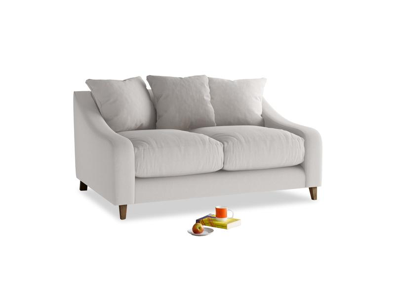 Small Oscar Sofa in Lunar Grey washed cotton linen