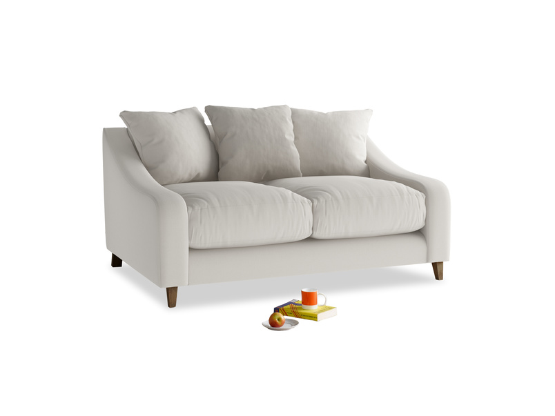 Small Oscar Sofa in Moondust grey clever cotton