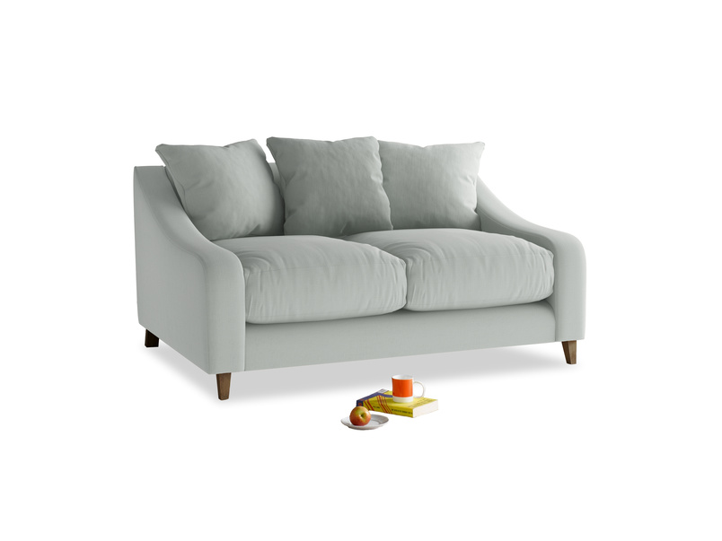 Small Oscar Sofa in Eggshell grey clever cotton
