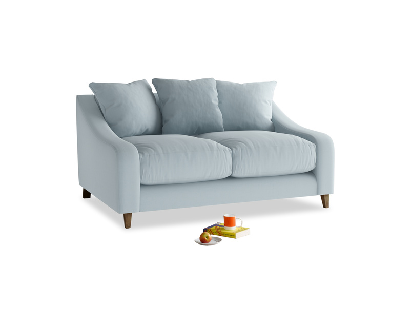 Small Oscar Sofa in Scandi blue clever cotton