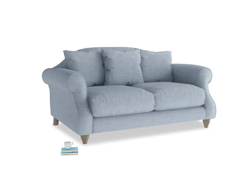 Small Sloucher Sofa in Frost clever woolly fabric