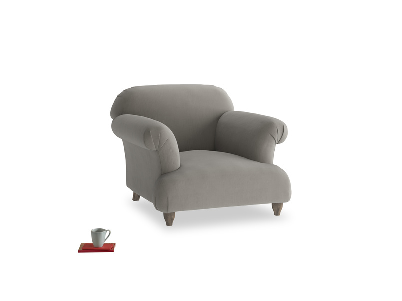 Soufflé Armchair in Monsoon grey clever cotton