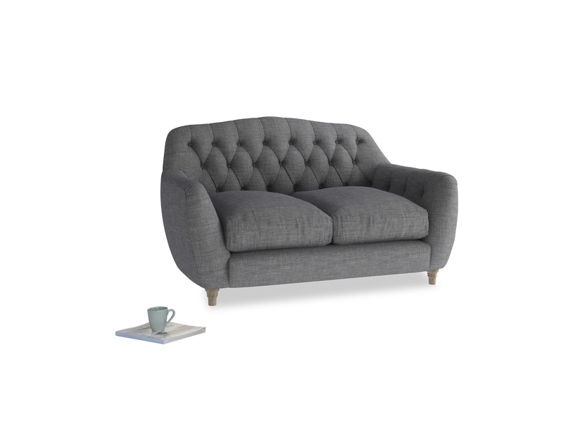 Small Butterbump Sofa in Strong grey clever woolly fabric