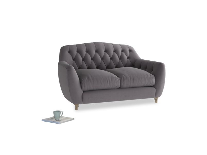 Small Butterbump Sofa in Graphite grey clever cotton