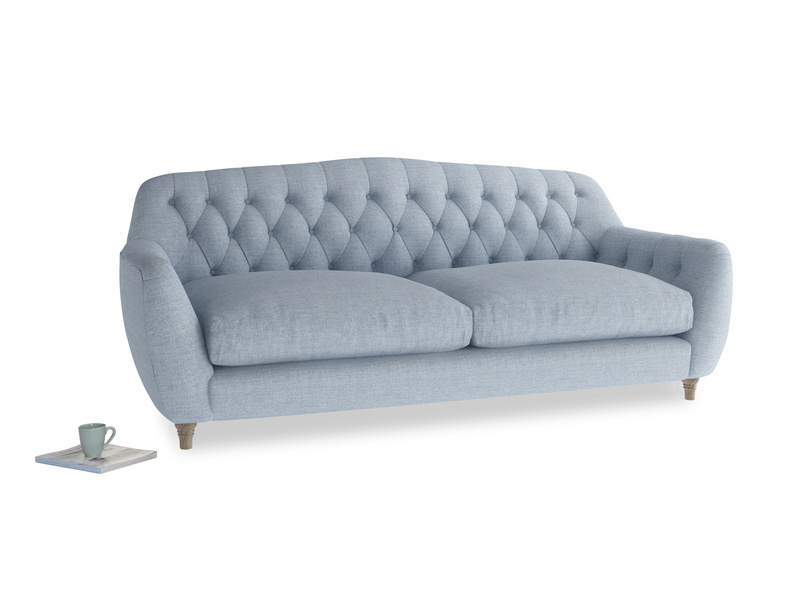 Large Butterbump Sofa in Frost clever woolly fabric