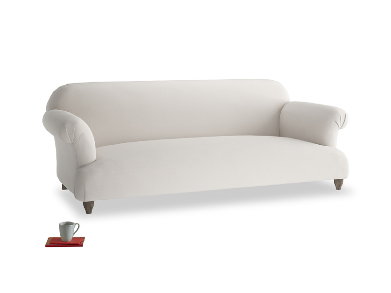 Large Soufflé Sofa in Chalk clever cotton