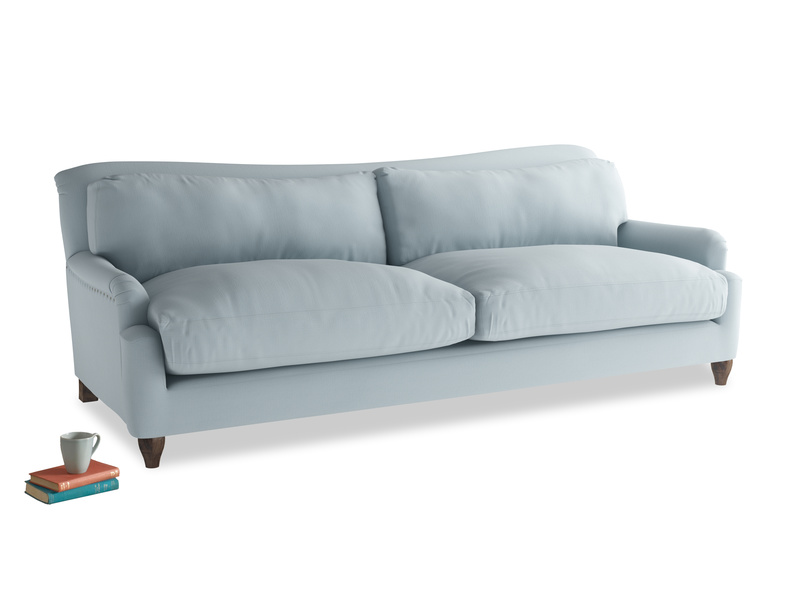 Extra large Pavlova Sofa in Scandi blue clever cotton